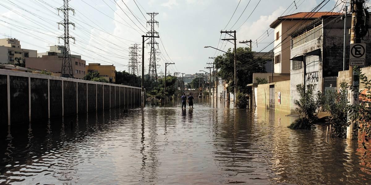Ruas continuaram alagadas por 48h em São Bernardo