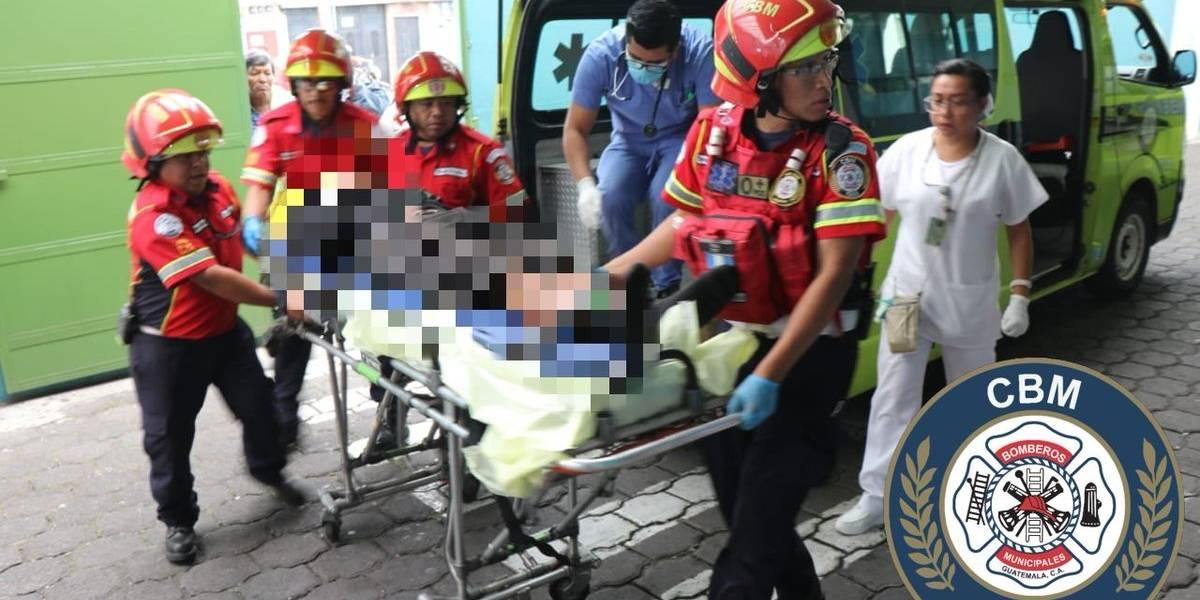 Incidente en zona 10 deja a un agente de PNC herido de bala