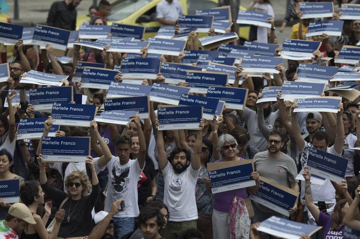 protestas por Marielle Franco. AP