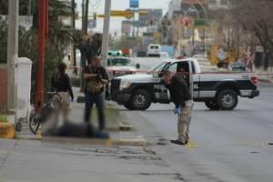 Escena de un homicidio en Ciudad Juárez