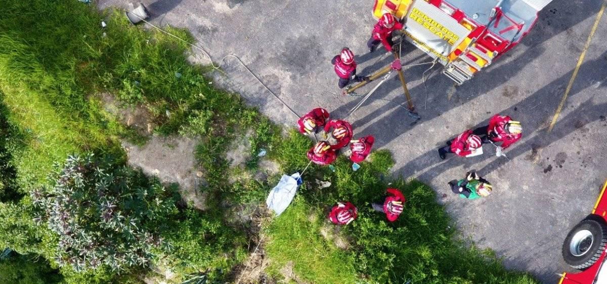 Bomberos rescatan cuerpo sin vida en sector del antiguo Puente del Chiche