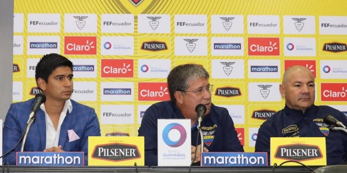 Estos son los convocados de la Selección de Ecuador para sus partidos ante Estados Unidos y Honduras