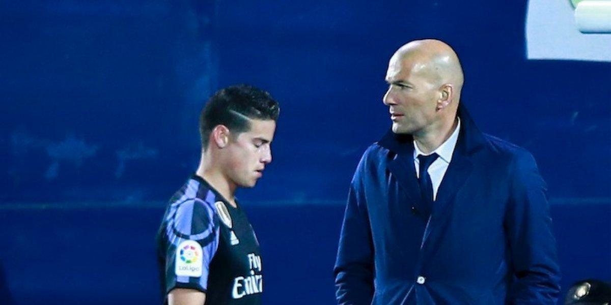 Así le cayó a James el regreso de Zidane al Real Madrid