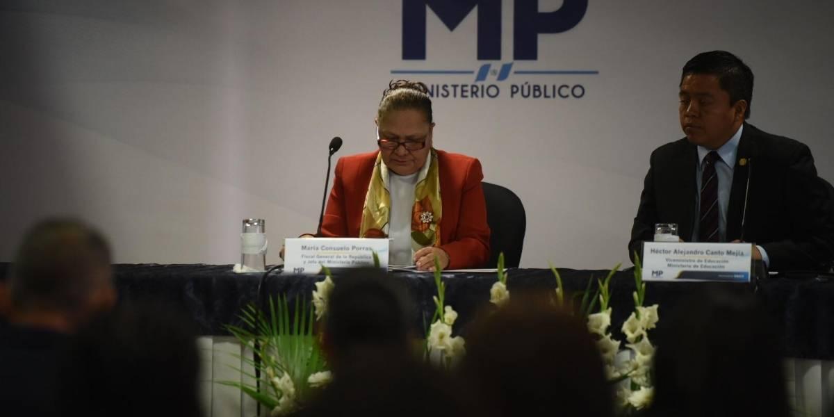 """""""Ninguna autoridad podrá dar instrucciones al fiscal general"""", indica María Consuelo Porras"""
