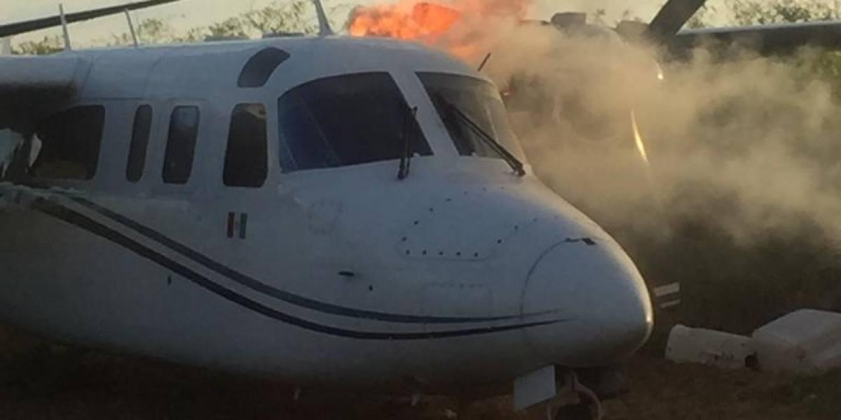 Localizan pista clandestina y aeronave abandona en Petén