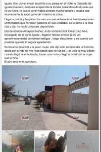 Hombre es acuchillado en Guerrero
