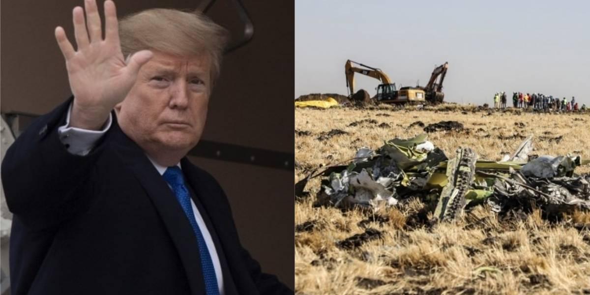 Los confusos e irónicos tuits de Trump sobre los aviones y los accidentes aéreos