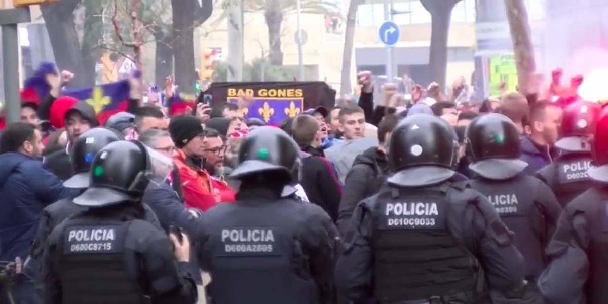 Ocho heridos, saldo por bronca entre aficionados del Barcelona y Lyon