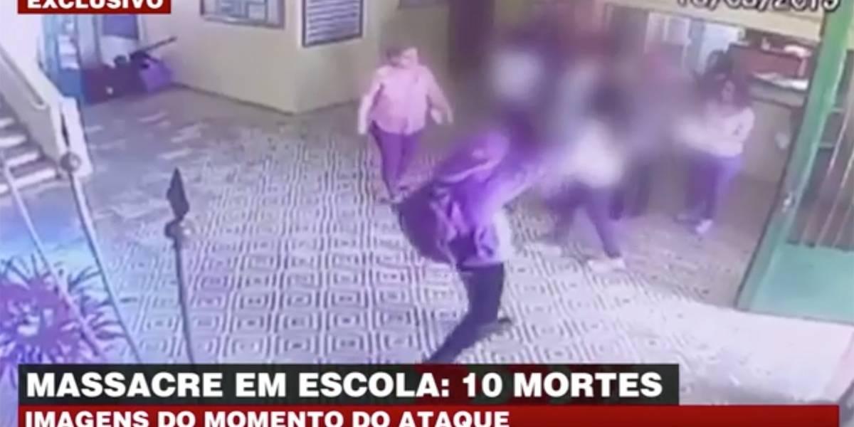 Câmeras registram momento de ataque em escola de Suzano