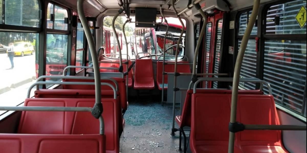 Varios heridos deja accidente de TransMilenio en el norte de Bogotá
