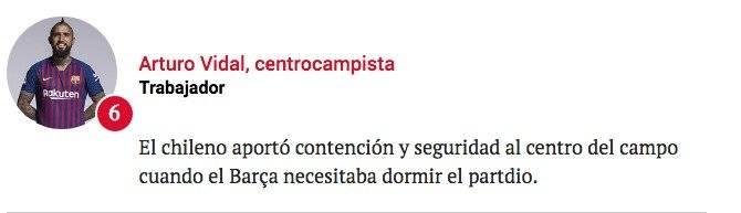El comentario del diario Sport sobre Vidal /Imagen: Sitio web Sport
