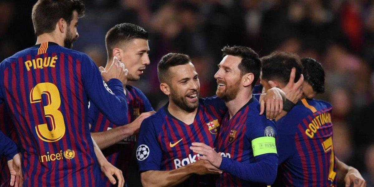 Barcelona bajo la batuta de Messi goleó y eliminó al Olympique de Lyon en la Champions League
