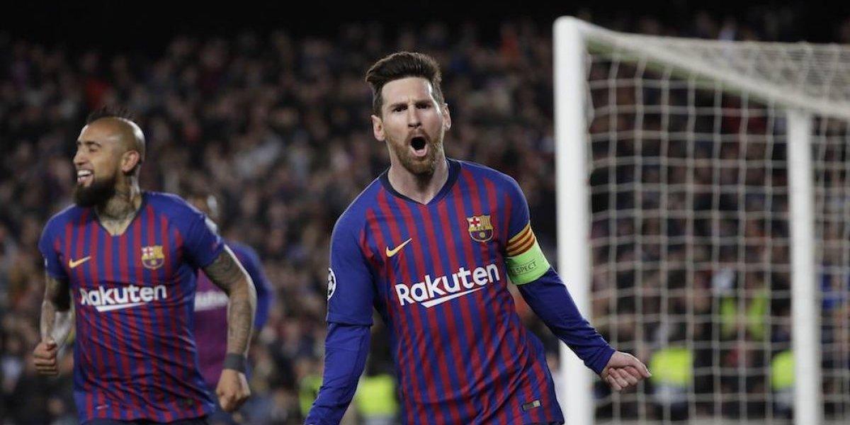 Messi lidera al triunfo del Barcelona sobre el Lyon