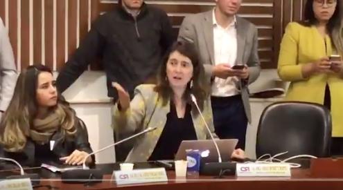 """Paloma Valencia llamó """"narco-terrorista"""" a un senador en pleno debate sobre paz"""