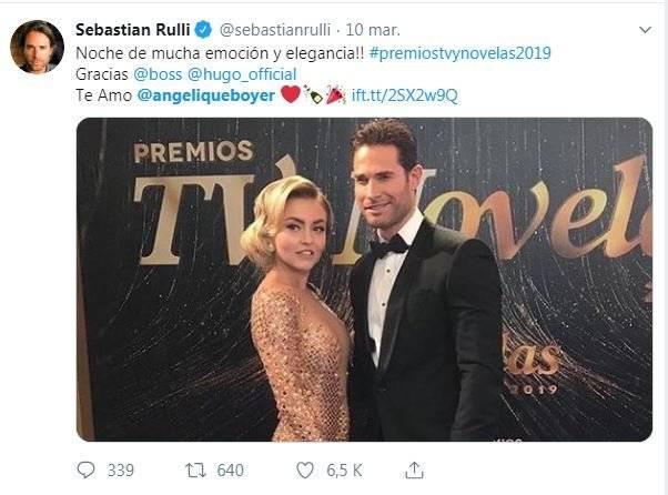 Sebastián Rulli error Twitter