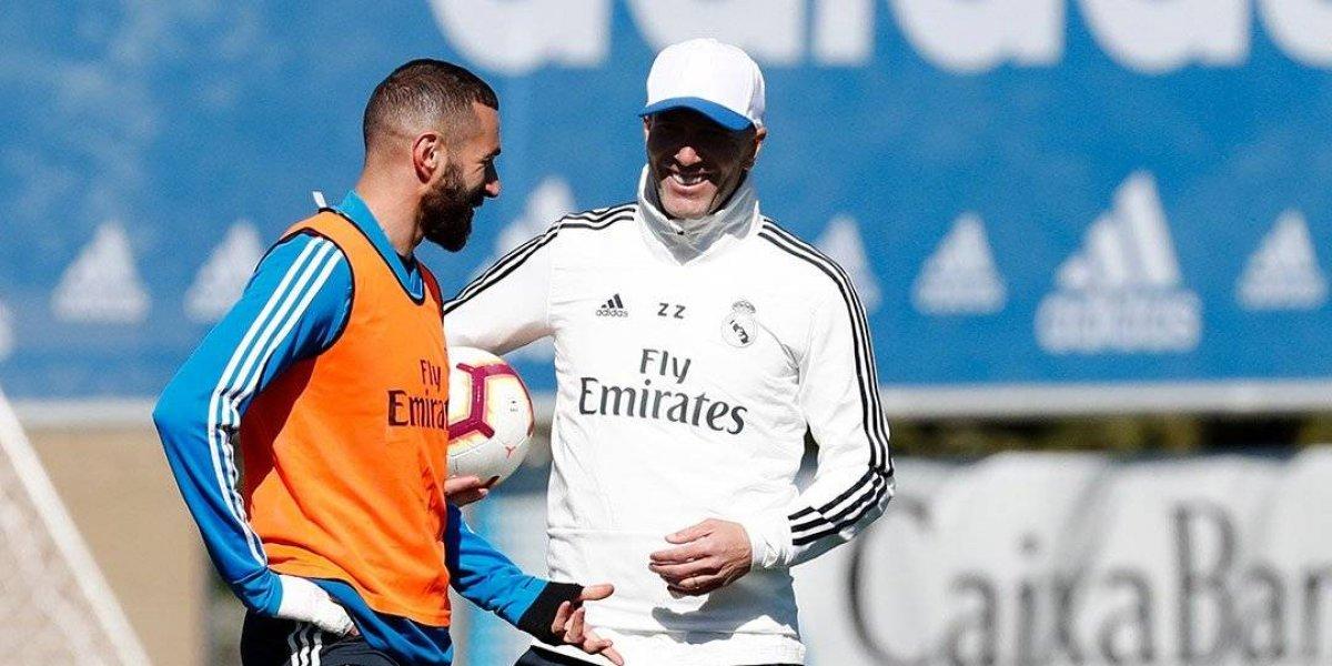 Zidane se reencuentra con sus jugadores en su regreso al Madrid