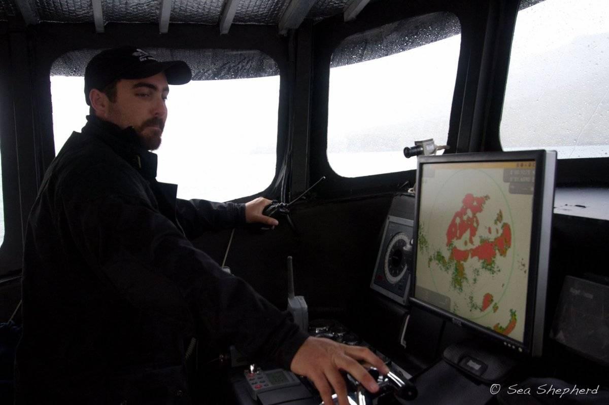 Locky MacLean, es capitán en la organización Sea Shepherd