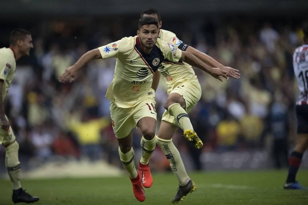 Así celebró Bruno Valdéz su anotación. / Mexsport