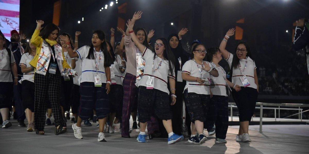 #GuateenAbuDhabi: Guatemala saluda al mundo en los Juegos Mundiales de Olimpiadas Especiales