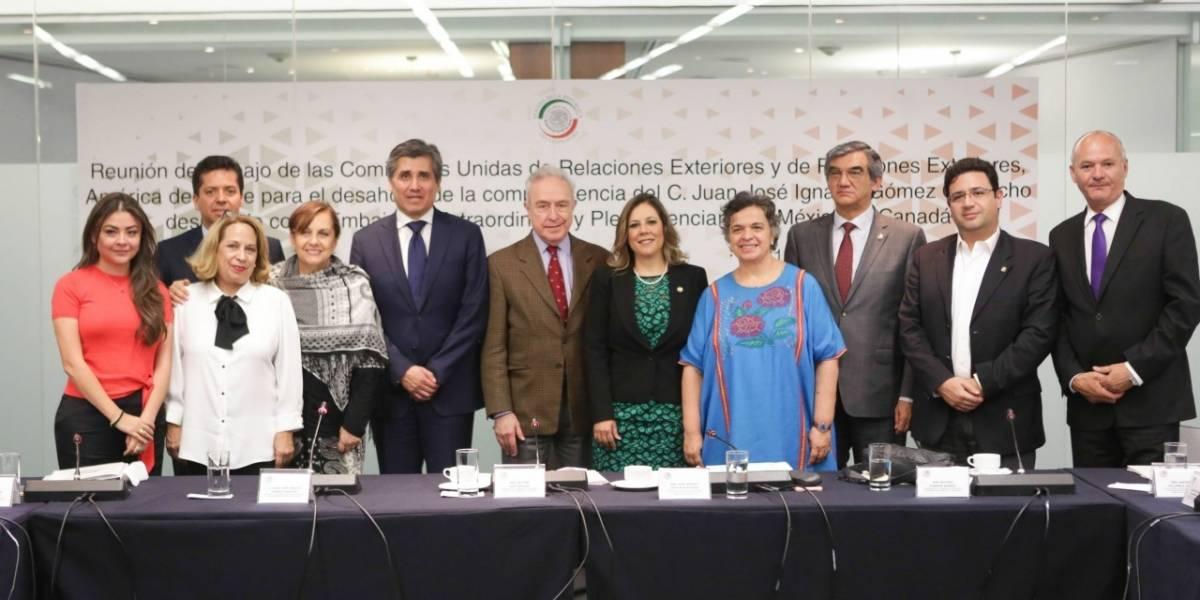 Senadores ratifican a embajador de México en Canadá