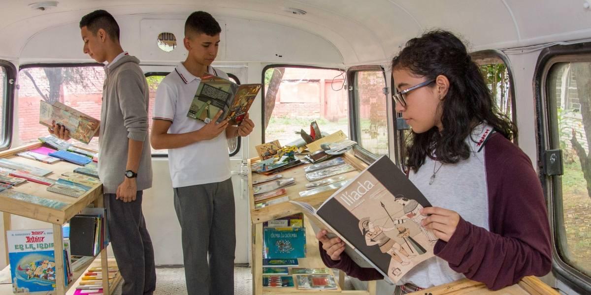 ¡Un sueño rodante! Estudiantes caleños tuvieron una novedosa idea para incentivar la lectura