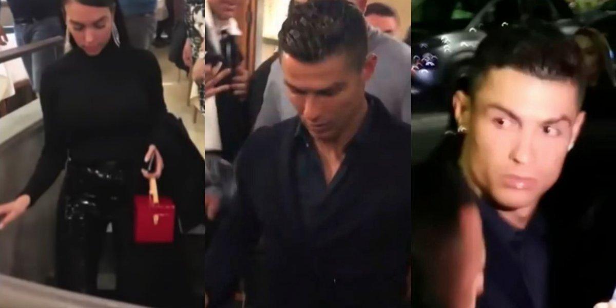 VIDEO: Cristiano Ronaldo sale ovacionado de un restaurante tras triplete en Champions