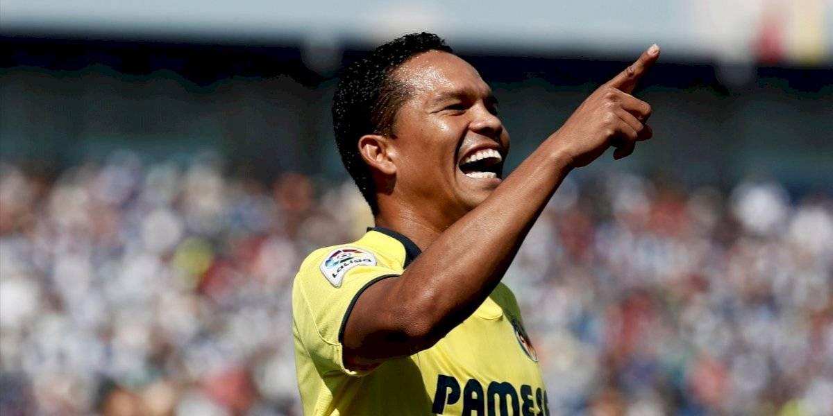 ¡De titular funciona! Bacca jugó de inicio en el Villarreal y cumplió con gol