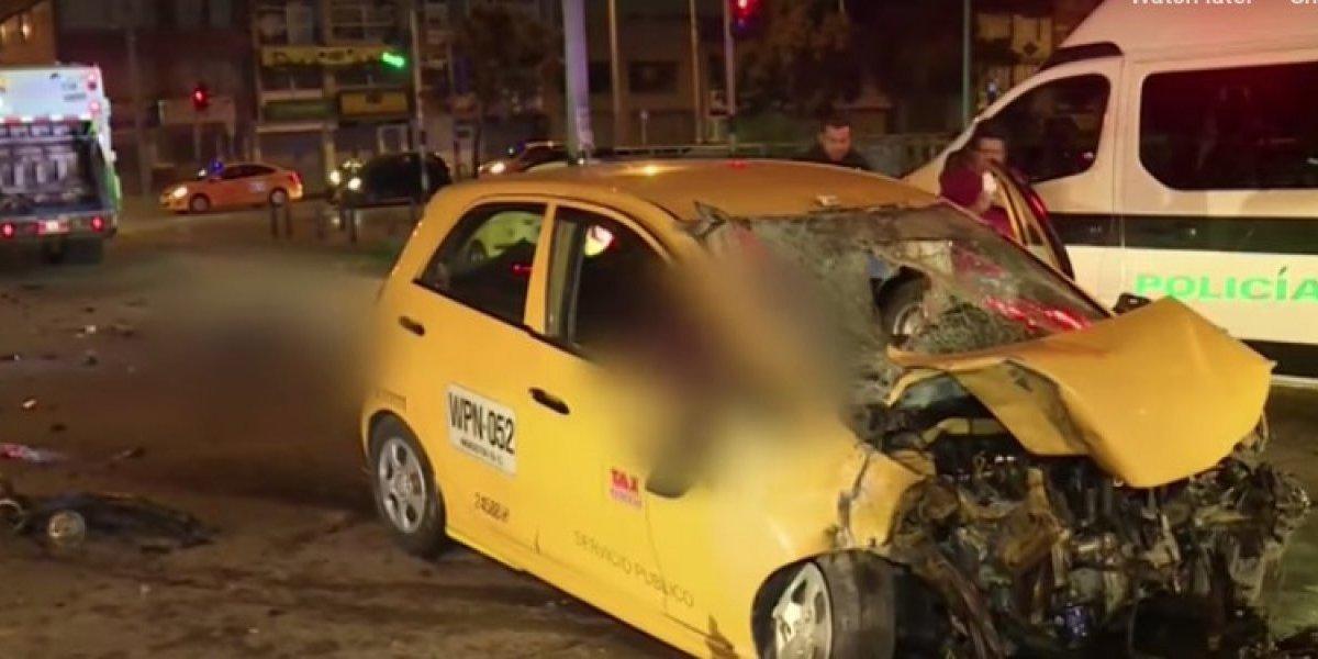 Niña y dos mujeres mueren en Bogotá por imprudencia de taxista que las transportaba