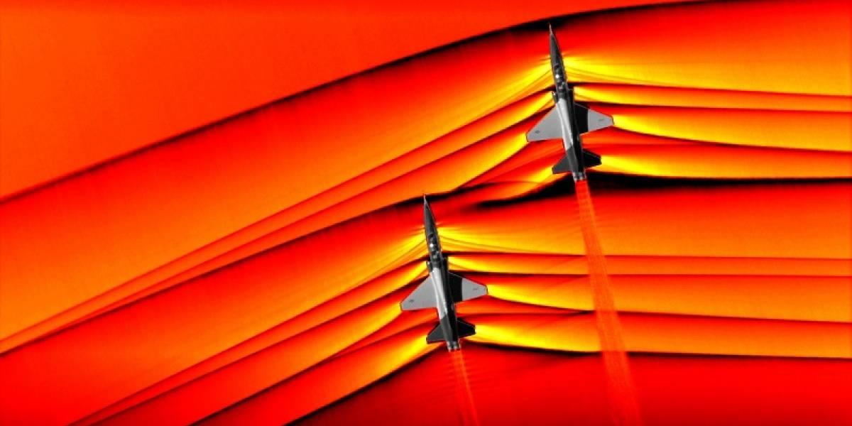 Captan ondas de choque supersónicas de dos jets