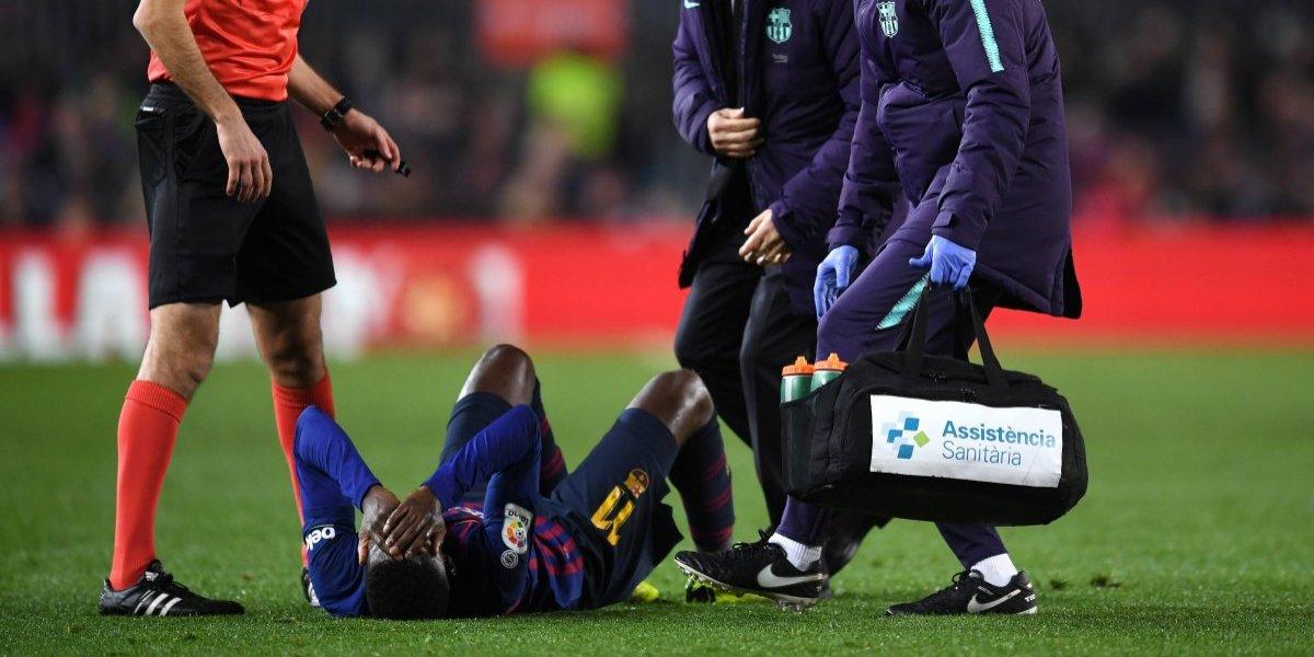 FC Barcelona sufre por la dura lesión de Ousmane Dembélé