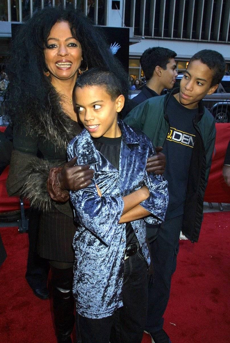 Diana Ross y sus hijos Foto: Getty Images