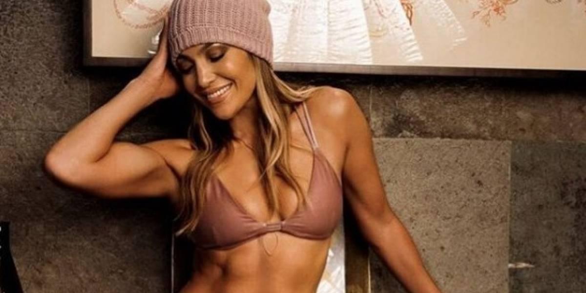 Jennifer Lopez impactó al natural, en bikini en las Bahamas