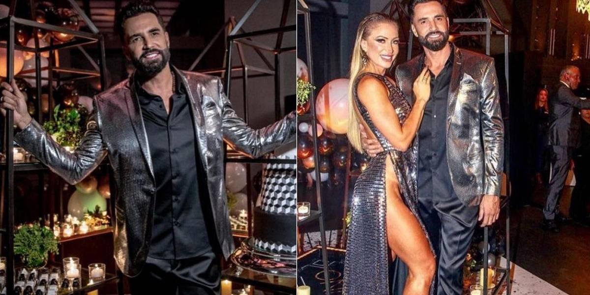 Latino faz festa 'ostentação' de aniversário e sua namorada, sem calcinha, rouba a cena