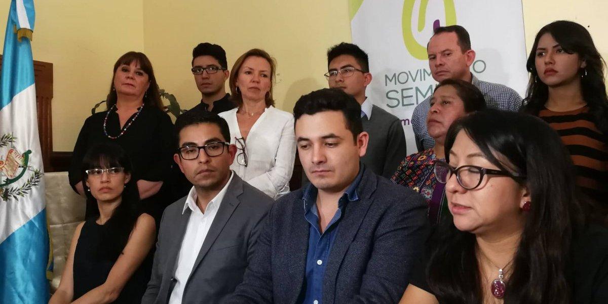 Movimiento Semilla señala que hay acciones para intentar bloquear su participación en las elecciones