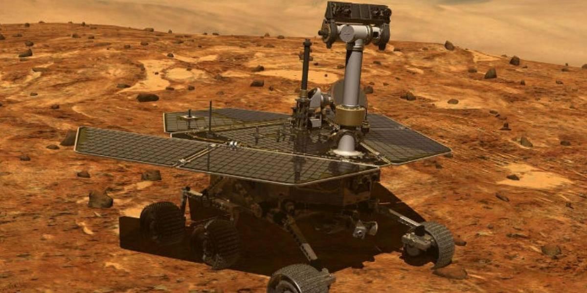 Esta es la última vista panorámica que envió el rover Opportunity desde Marte