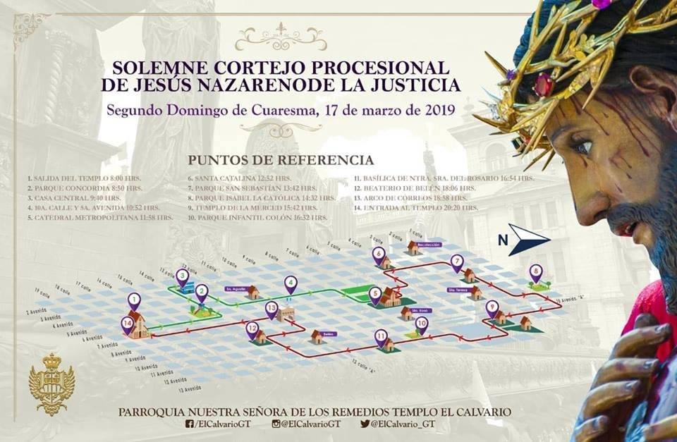 Recorrido de Jesús de la Justicia