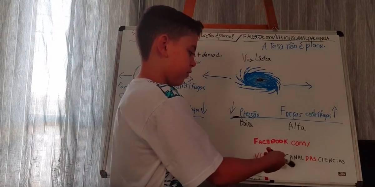 Aos 9 anos, Vinícius ensina matemática aplicada e física no próprio canal do YouTube