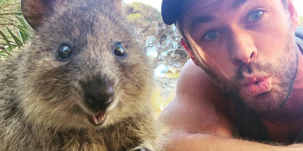 A internet está apaixonada pela última selfie de Chris Hemsworth