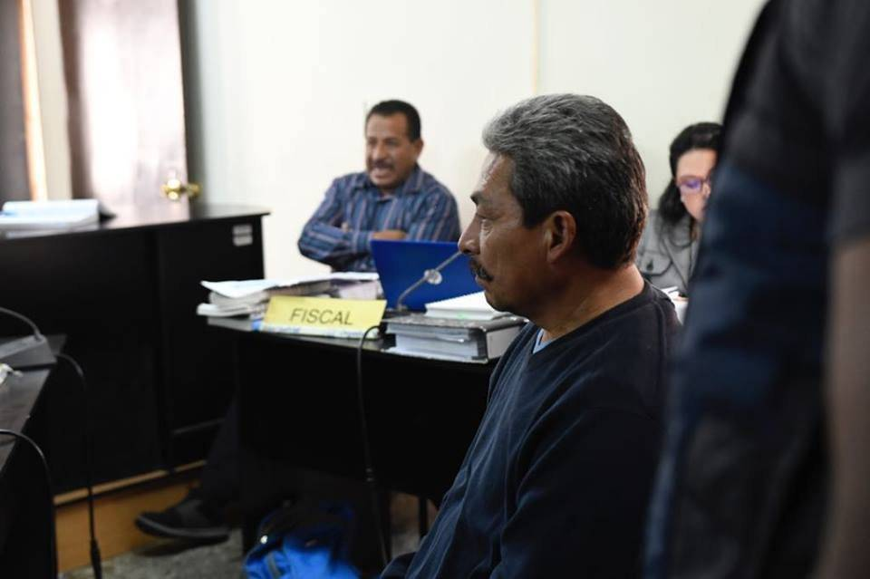 Andrés Gilberto Aguilar Hernández, guardia de seguridad de la Usac. Foto: Omar Solís