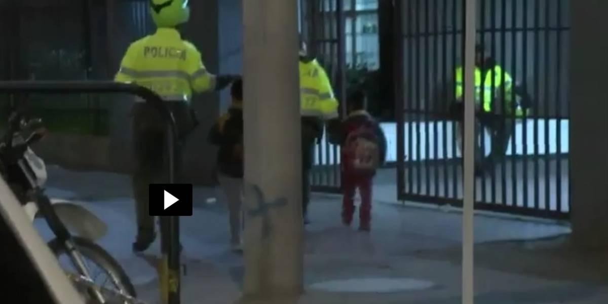 En Bogotá, mujer abandonó a sus hijos en el colegio para irse de viaje