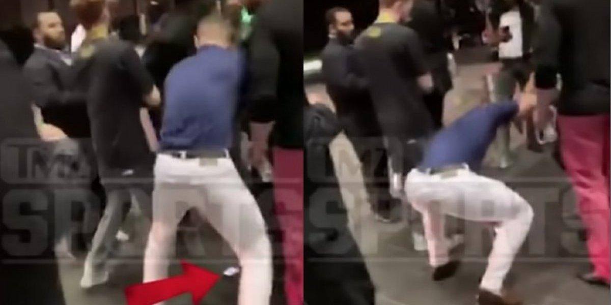 Revelan el video en el que Conor McGregor destroza el celular de un aficionado