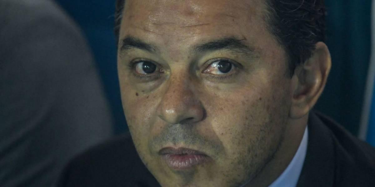 El duro reclamo del Muñeco Gallardo contra los árbitros por errores en duelo River-Palestino