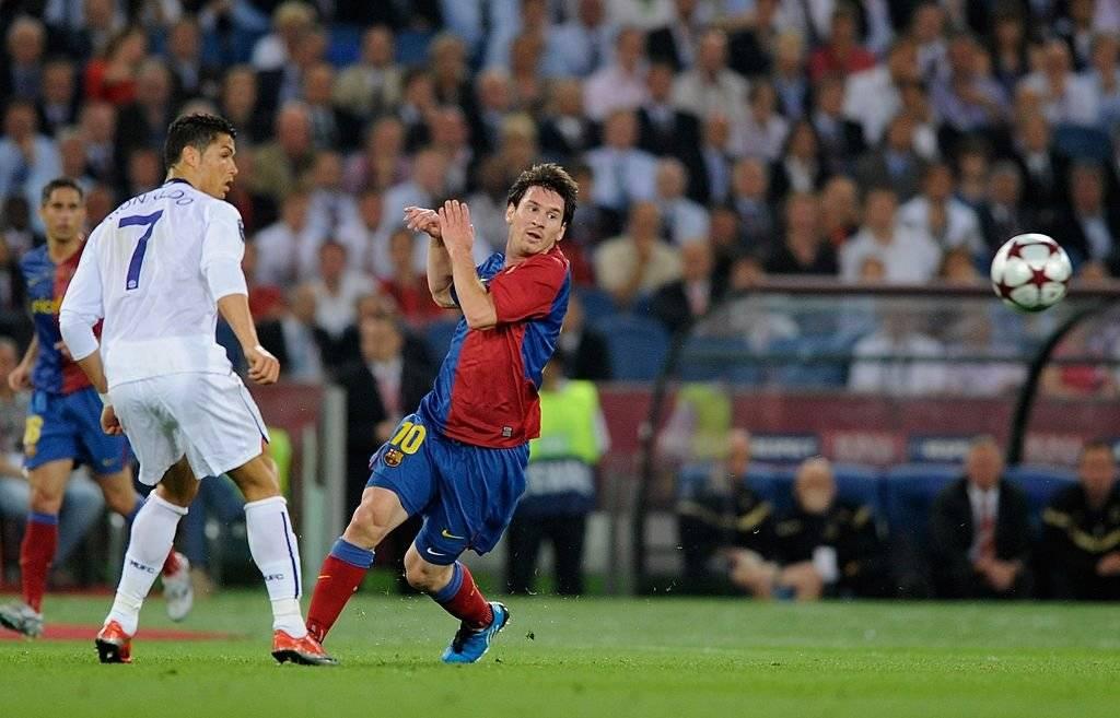 En la final de la Champions 2008-2009 el Barça de Messi venció al United de Cristiano / Foto: Getty Images