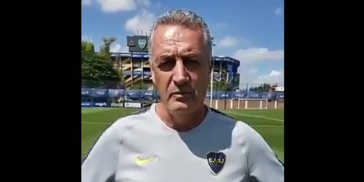 Boca Juniors se molestó con Gustavo Alfaro por video en contra del aborto