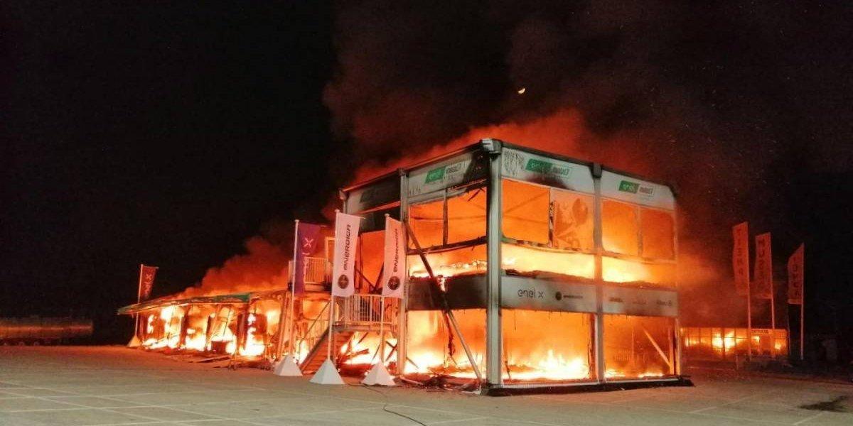 MotoE suspende su inicio por incendio que destruyó todas las motos