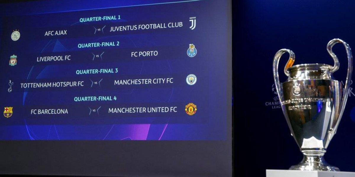 Cuartos de la Champions League: Horario, día y quién transmite los partidos