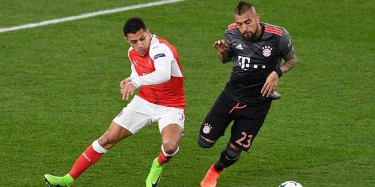 Arturo Vidal golea a Alexis Sánchez en sus choques en la Champions League