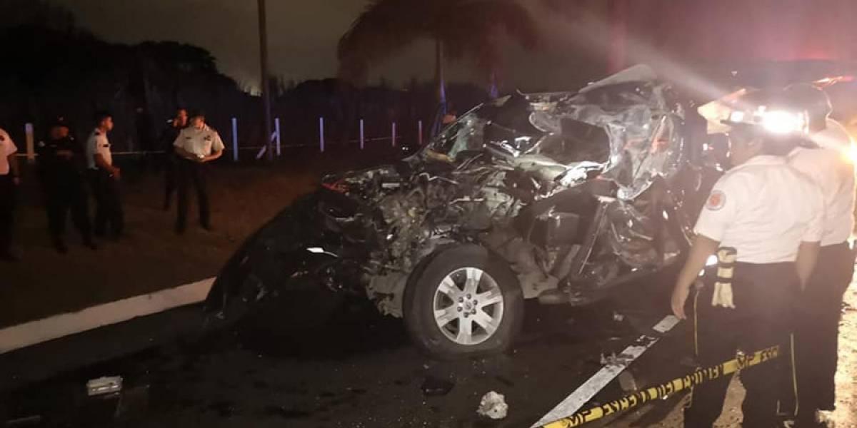 Fuerte accidente en autopista Palín-Escuintla deja 4 muertos