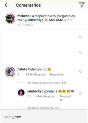 Respuesta de novia de Maluma