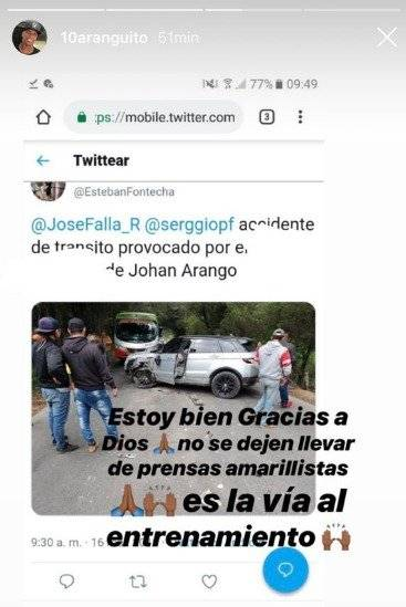 Accidente Arango